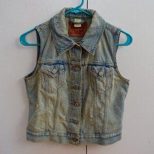 Levi's Sleeveless Jean Vest Size Small Petite